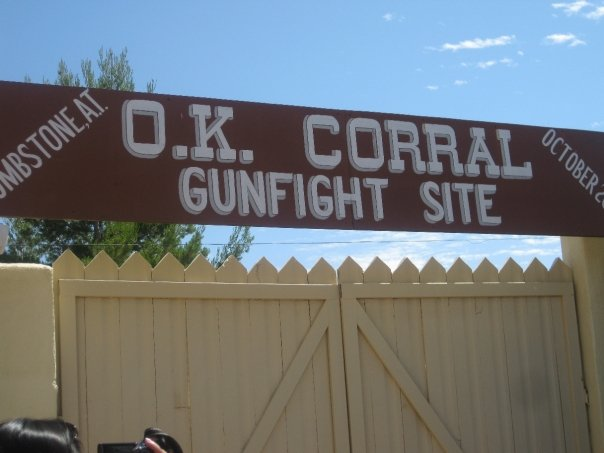 O.K. CORRAL GUN FIGHT SITE